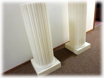 Santiam Place - Roman Columns