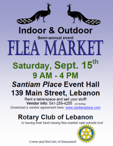Flea Market Sept 15th