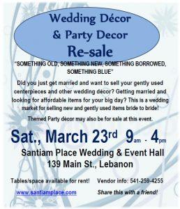 Wedding & Party Decor Resale