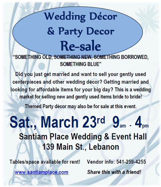 Wedding & Party Decor Resale